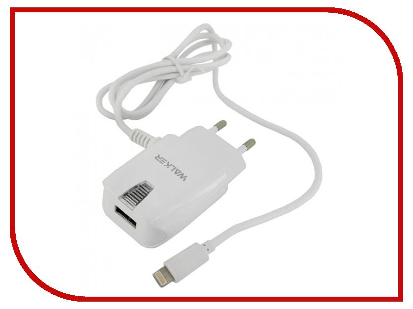 Зарядное устройство Walker WH-23 Apple iPhone 5 / 6 / 7 2A White