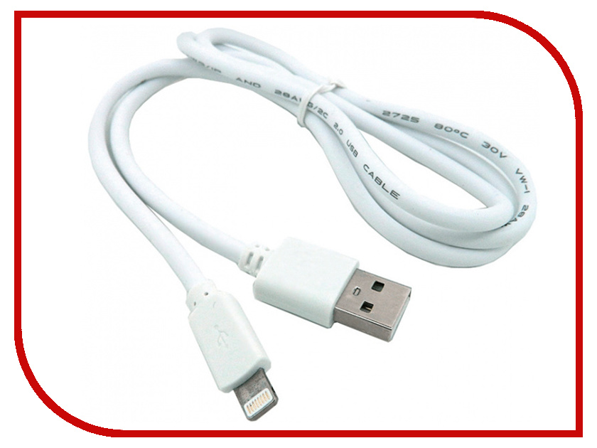 Фото - Аксессуар Walker C110 USB-Lightning for Apple iPhone 5 / 6 / 7 White аксессуар krutoff usb lightning для iphone 5 6 1m white 14265
