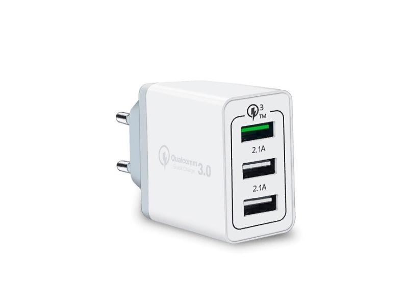 Зарядное устройство Orient QC-12V3W White 30650