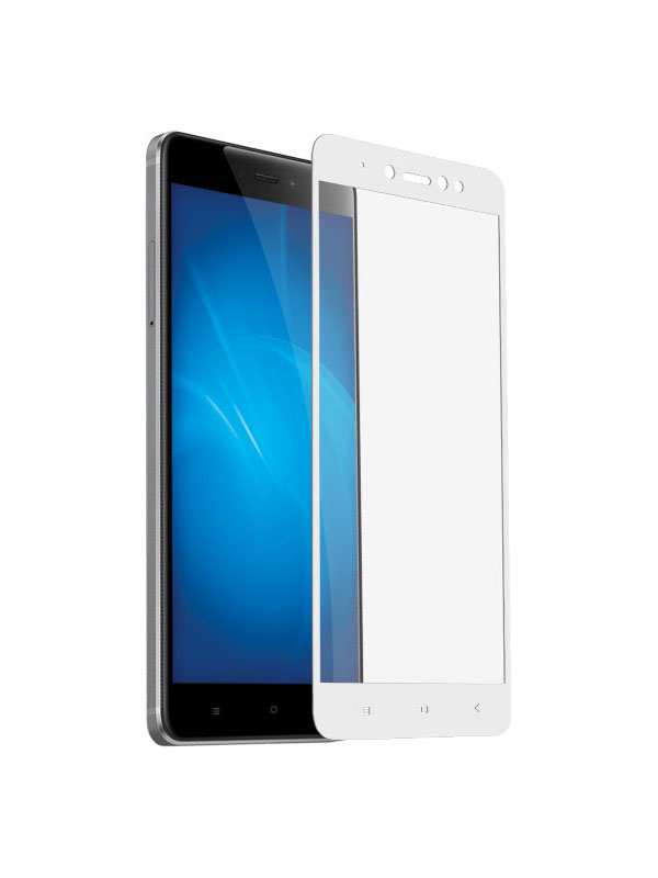 Аксессуар Закаленное стекло DF для Xiaomi Redmi Note 5A / Note 5A Prime Full Screen+Full Glue xiColor-18 White fbt j 5a
