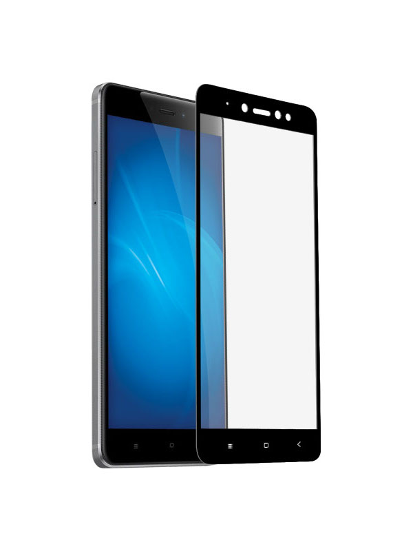 Закаленное стекло DF для Xiaomi Redmi Note 5A / Note 5A Prime Full Screen xiColor-18 Black