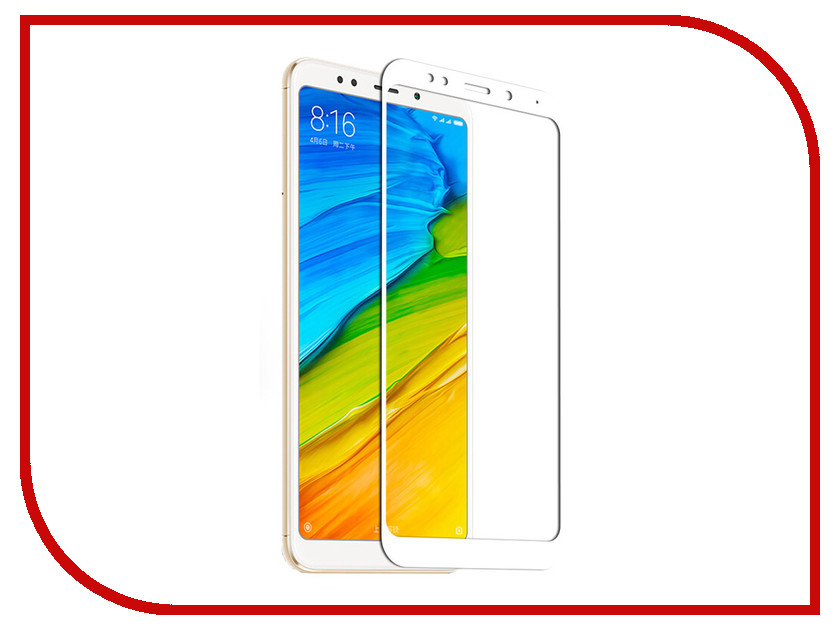 Аксессуар Закаленное стекло для Xiaomi Redmi 5 Plus DF Full Screen xiColor-37 White tested original 5 15 inch black white golden 1920x1080 display for xiaomi 5 mi 5 mi5 m5 lcd with touch screen replacement