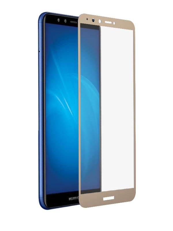 Аксессуар Закаленное стекло DF для Huawei Y9 2018 / Y9 Prime 2018 Full Screen hwColor-48 Gold цена
