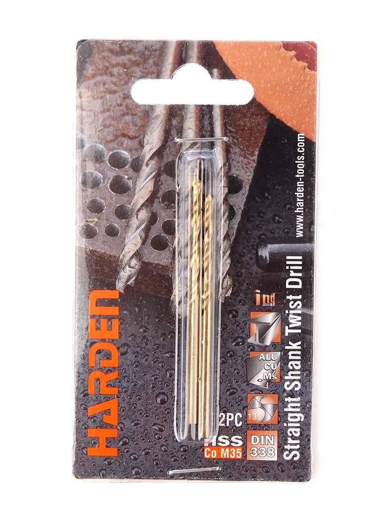 Набор сверл Harden по металлу/бетону/кирпичу 2шт 610216