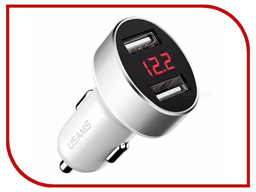 Зарядное устройство USAMS US-CC045 C1 2.1A Dual USB White устройство зарядное bosch c1