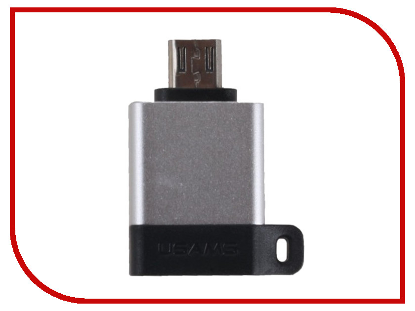 Аксессуар USAMS US-SJ187 A1 Micro to USB2.0 OTG Silver factory price mosunx hot selling high quality new mini usb 2 0 micro otg converter adapter cellphone to us drop shipping