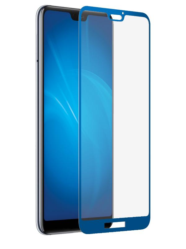 Аксессуар Закаленное стекло DF для Huawei P20 Lite Full Screen 3D hwColor-63 Blue аксессуар закаленное стекло для huawei mediapad m5 10 8 df hwsteel 42