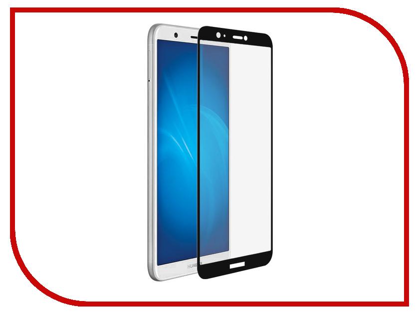 Аксессуар Закаленное стекло для Huawei P Smart DF Full Screen hwColor-37 Black защитное стекло для экрана df hwcolor 37 для huawei p smart 1 шт черный [df hwcolor 37 black ]