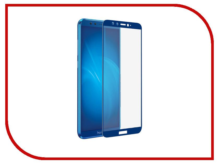 Закаленное стекло для Honor 9 Lite DF Full Screen hwColor-36 Blue аксессуар закаленноестеклодляhonor9