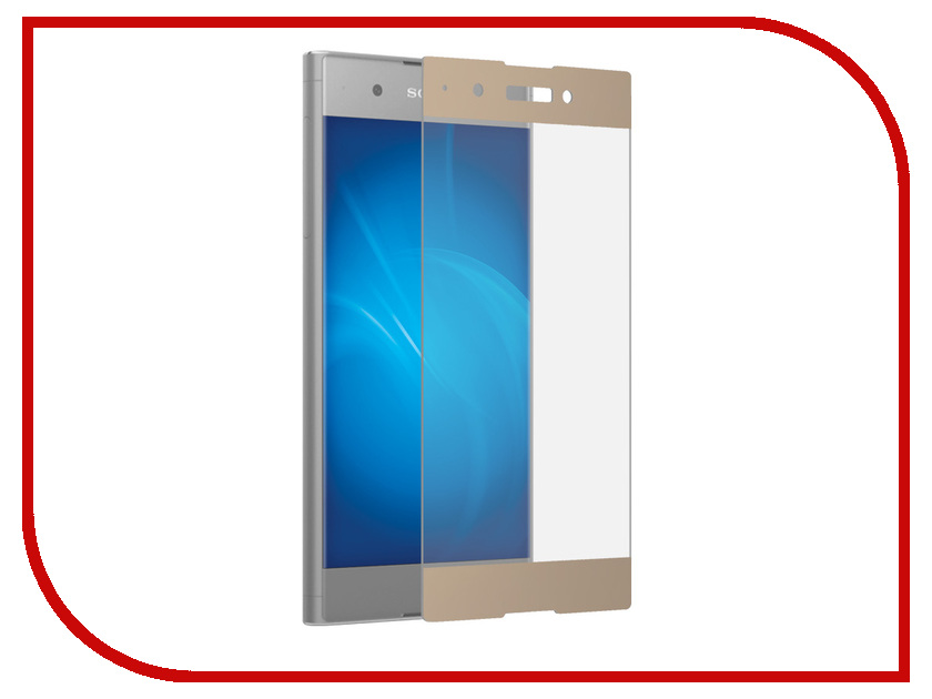 Аксессуар Закаленное стекло для Sony Xperia XA1 Plus DF Full Screen xColor-11 Gold good working replacement lcd touch screen digitizer assembly for sony for ericsson for xperia t lt30 lt30i lt30p free shipping