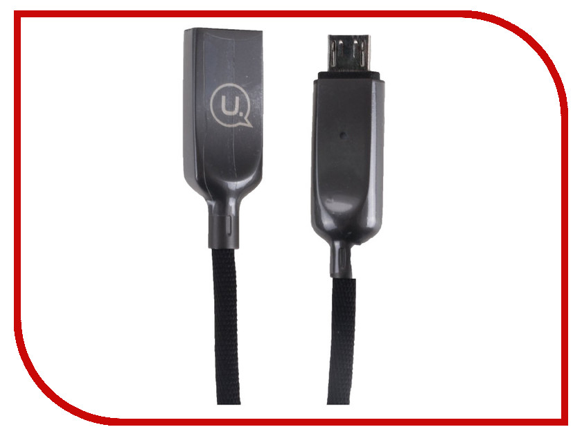 Аксессуар USAMS U-Sun Series US-SJ179 USB - MicroUSB 1.2m Black аксессуар usams u flow series us sj165 usb lightning 1 2m black