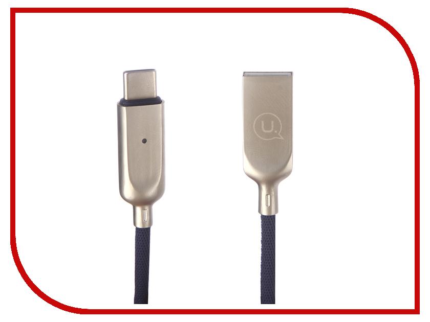 Аксессуар USAMS U-Sun Series US-SJ180 USB - Type-C 1.2m Blue аксессуар usams us sj200 usb type c 1 2m blue
