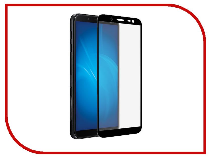 Аксессуар Закаленное стекло для Samsung Galaxy J8 2018 DF Full Screen sColor-52 Black аксессуар противоударное стекло для samsung galaxy j8 2018 innovation 2d full glue cover gold 12814