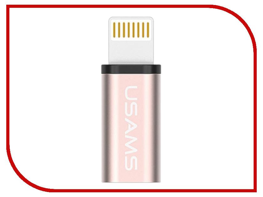 Аксессуар USAMS US-SJ049 Lightning - Micro USB 2.0 F Metal Rose Gold аксессуар usams us sj049 lightning micro usb 2 0 f metal gold