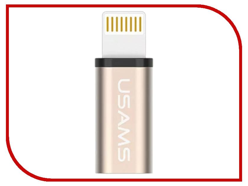 Аксессуар USAMS US-SJ049 Lightning - Micro USB 2.0 F Metal Gold аксессуар usams us sj049 lightning micro usb 2 0 f metal gold