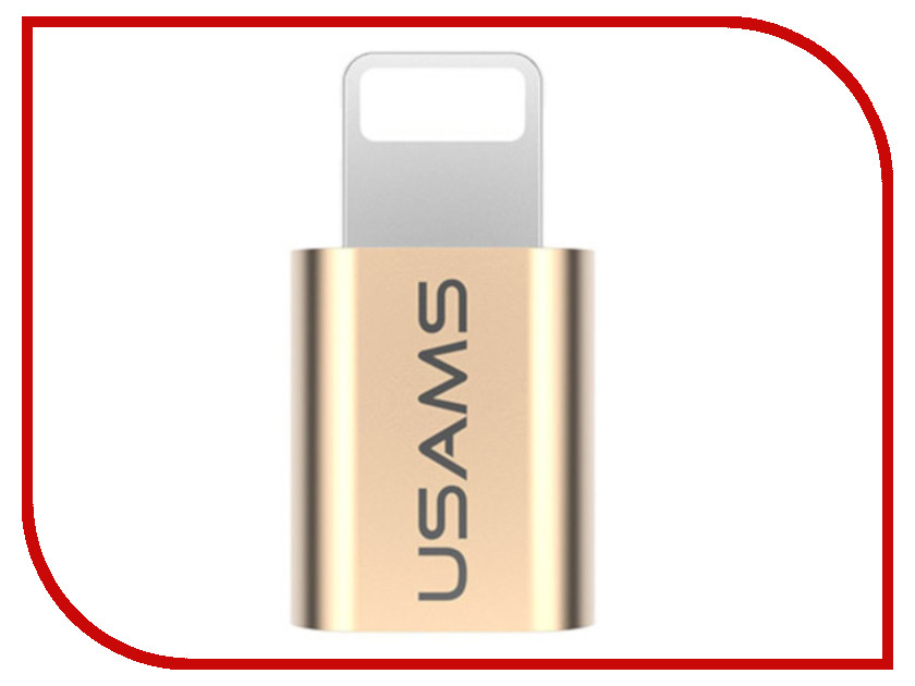 Аксессуар USAMS US-SJ014 Lightning - Micro USB 2.0 F Gold аксессуар usams us sj199 usb lightning 1 2m blue