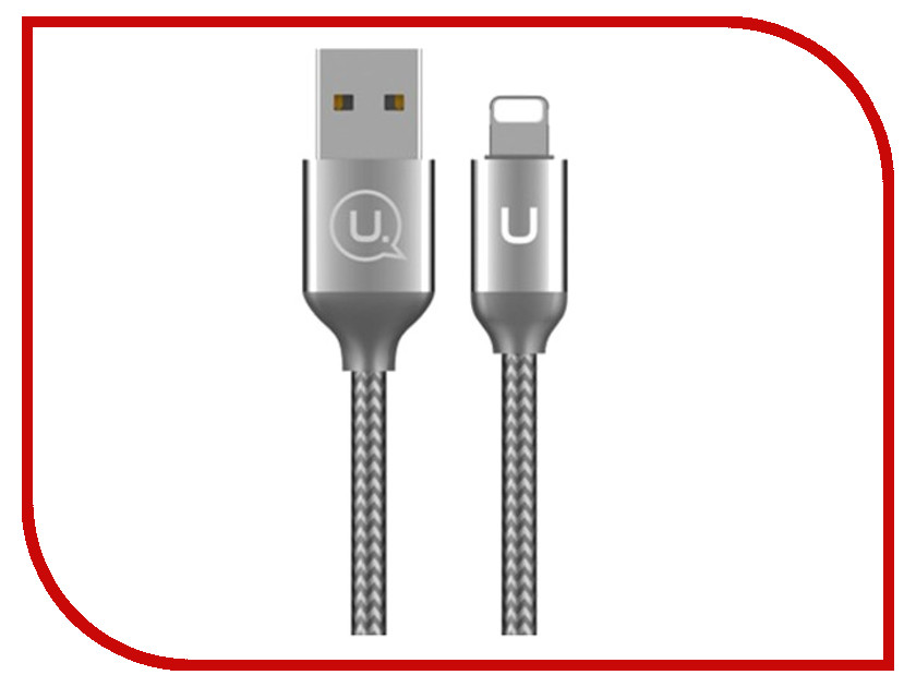 Аксессуар USAMS U-Shine Series US-SJ181 USB - Lightning 1.2m Silver аксессуар usams u flow series us sj165 usb lightning 1 2m black