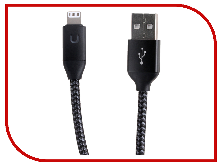 Аксессуар USAMS U-Shine Series US-SJ181 USB - Lightning 1.2m Black аксессуар usams u flow series us sj165 usb lightning 1 2m black