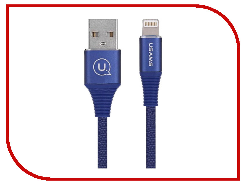 Аксессуар USAMS Mermaid Series US-SJ185 USB - Lightning 1.2m Blue аксессуар usams us sj199 usb lightning 1 2m blue