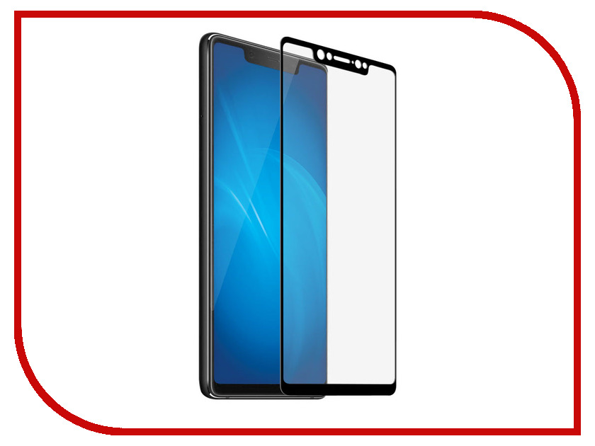 Аксессуар Закаленное стекло для Xiaomi Mi 8 DF Full Screen xiColor-33 Black for lenovo zuk z2 lcd screen display with touch screen digitizer panel glass assembly black white replacement parts free shipping