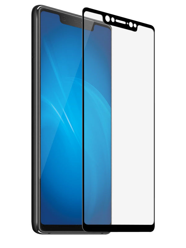 Аксессуар Закаленное стекло DF для Xiaomi Mi 8 Full Screen xiColor-33 Black аксессуар защитное стекло для xiaomi mi mix 2s df xicolor 29 black