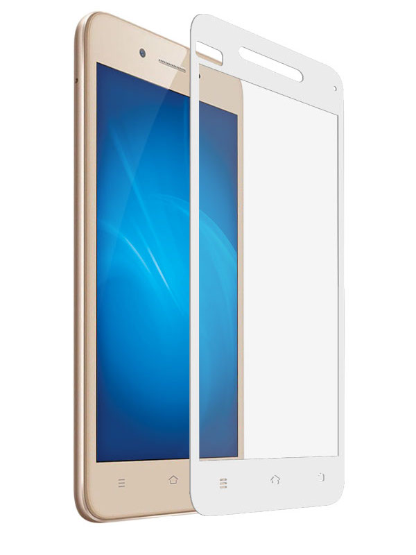 Аксессуар Закаленное стекло DF для Vivo Y53 Full Screen vColor-01 White