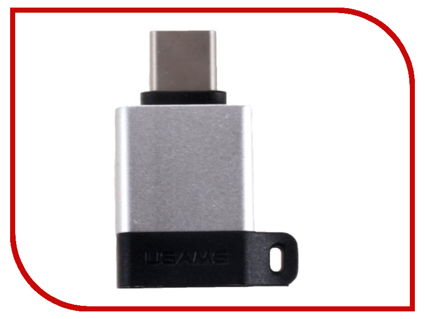 Аксессуар USAMS US-SJ186 A1 USB Type-C - USB3.0 OTG Adapter Silver orico ct3 otg type c to usb 3 0 adapter cable