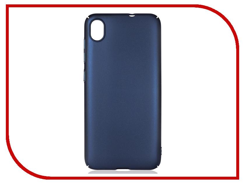 Аксессуар Чехол для Asus Zenfone Live L1 ZA550KL DF Soft-Touch aSlim-21 Blue чехол soft touch для asus zenfone 3 ze552kl df aslim 17