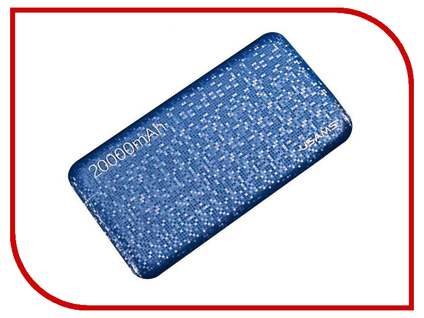 Аккумулятор Usams Mosaic Series US-CD32 20000mAh Blue держатель usams us zj023 silver