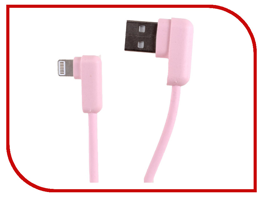 Аксессуар USAMS U-flow Series US-SJ165 USB - Lightning 1.2m Pink аксессуар usams u flow series us sj165 usb lightning 1 2m black