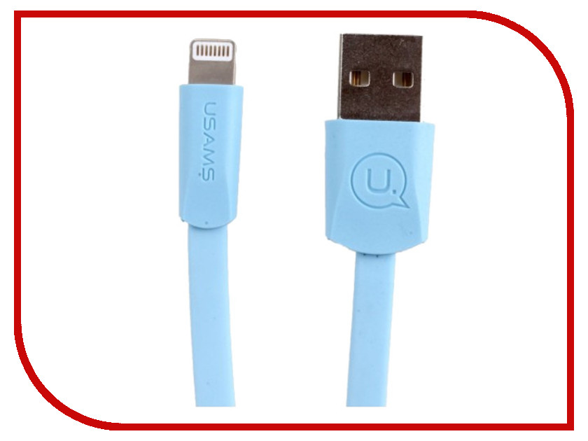 Аксессуар USAMS US-SJ199 USB - Lightning 1.2m Blue аксессуар usams us sj199 usb lightning 1 2m blue