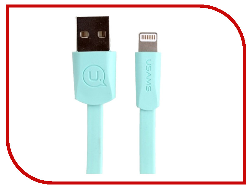 Аксессуар USAMS US-SJ199 USB - Lightning 1.2m Green аксессуар usams us sj199 usb lightning 1 2m blue