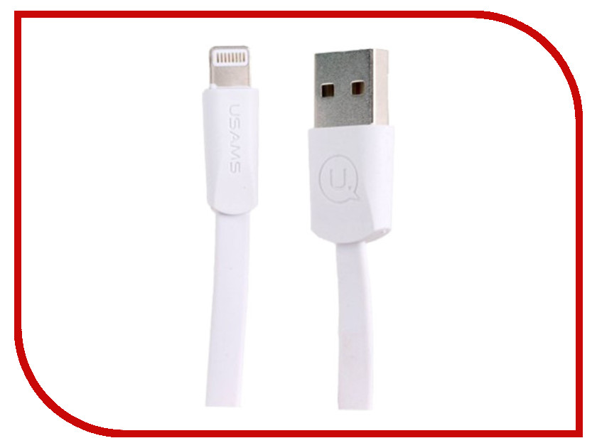 Аксессуар USAMS US-SJ199 USB - Lightning 1.2m White держатель usams us zj023 silver
