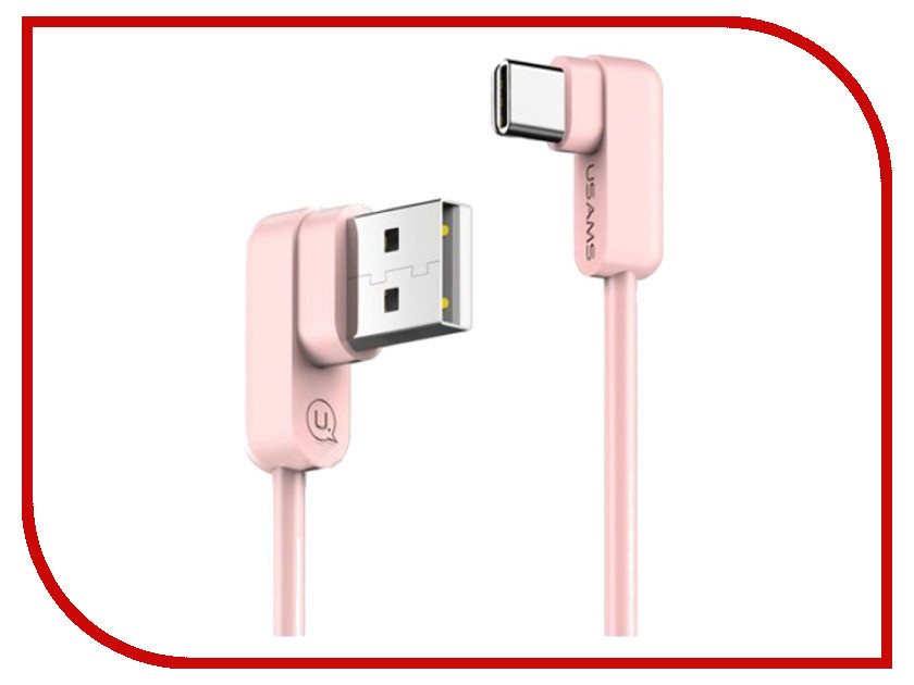 Аксессуар USAMS U-flow Series US-SJ167 USB - Type-C 1.2m Pink