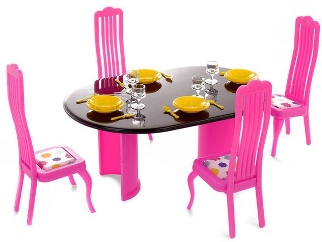 Мебель для кукольного домика Огонек Столовая Зефир С-1466