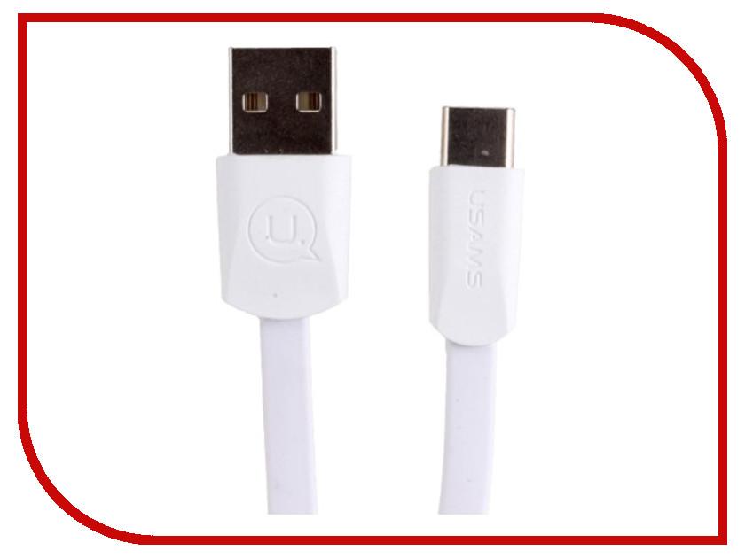 Аксессуар USAMS US-SJ200 USB - Type-C 1.2m White аксессуар usams us sj199 usb lightning 1 2m blue