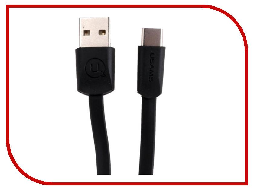 Аксессуар USAMS US-SJ200 USB - Type-C 1.2m Black аксессуар usams us sj197 usb type c type c magnet cable 2m black
