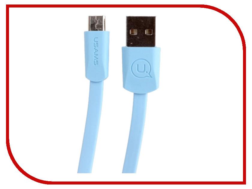 Аксессуар USAMS US-SJ201 USB - MicroUSB 1.2m Blue цена 2017