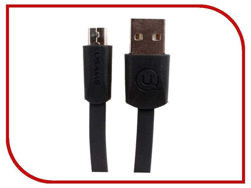 Аксессуар USAMS US-SJ201 USB - MicroUSB 1.2m Black