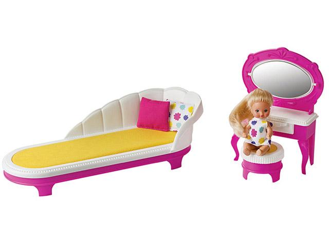 Набор кукольной мебели Огонек Зефир Будуар С-1414