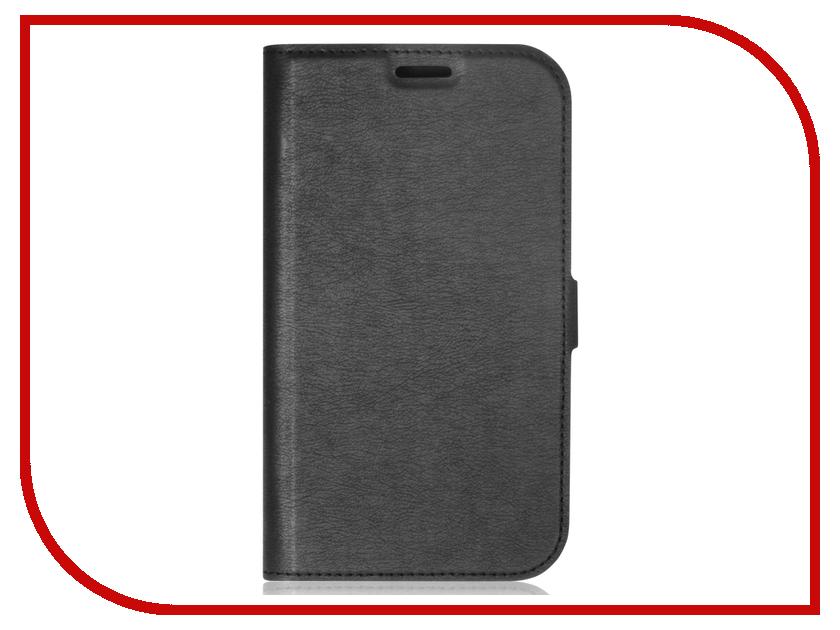Аксессуар Чехол для Samsung Galaxy J2 2018 / J2 Pro 2018 DF sFlip-26 Black аксессуар чехол samsung j3 2017 j330f zibelino clear view black zcv sam j330 blk