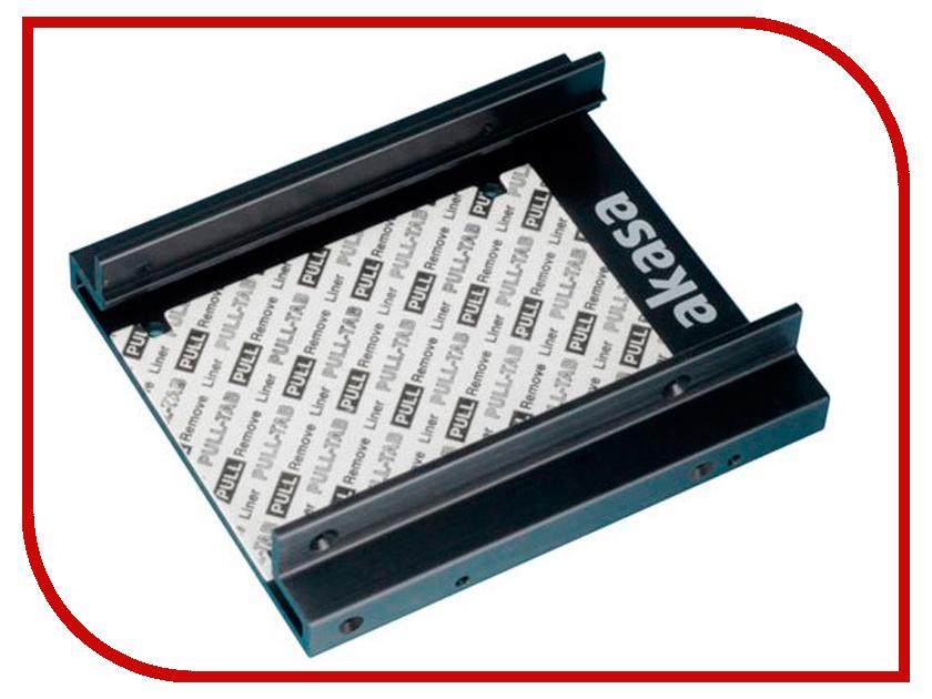 Адаптер SDD/HDD 2x2.5 - 3.5 Akasa AK-MX010V2 akasa ak fn063 viper 140mm 4 pin pwm 9 blade cooling heatsink fan for computer yellow black
