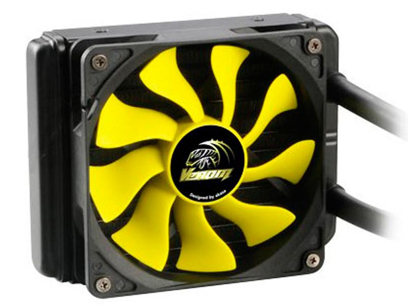 Водяное охлаждение Akasa Venom A10 AK-LC4001HS02 (Intel LGA775/115X/1366/2011/2066/ AMD AM2-AM4/FM1.FM2) cooler for cpu arctic cooling freezer 33 tr white acfre00039a 2066 2011v3 am4