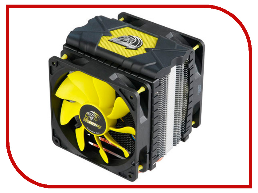 Кулер Akasa Venom Voodoo V2 AK-CC4008HP01V2 (Intel LGA775/115x/1366/2011/2066/ AMD AM2-AM4/FM1.FM2) akasa ak cc7118hp01 cpu heatsink cooler socket lga775 lga1155 lga1156