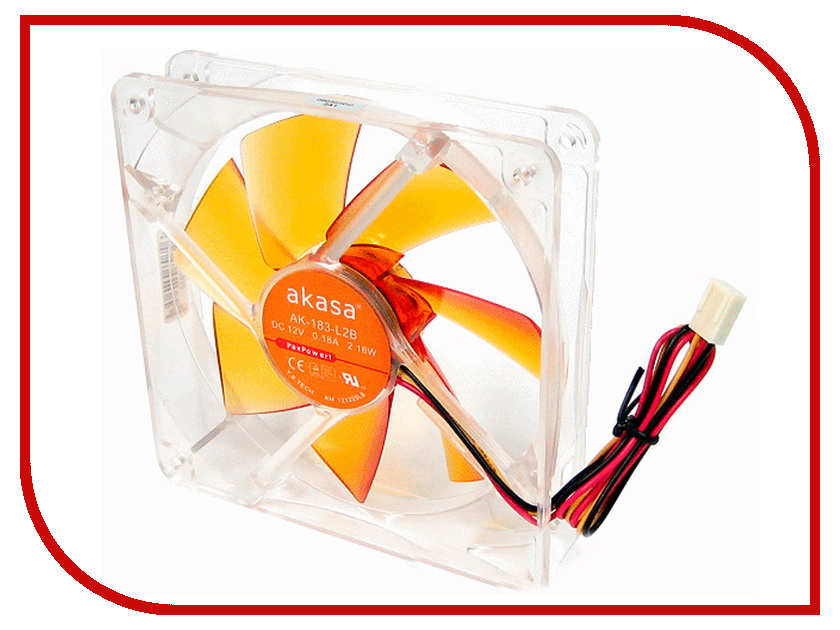 Вентилятор Akasa 120mm AK-183-L2B akasa ak fn059 viper 120mm 4 pin pwm 9 blade cooling heatsink fan for computer yellow black
