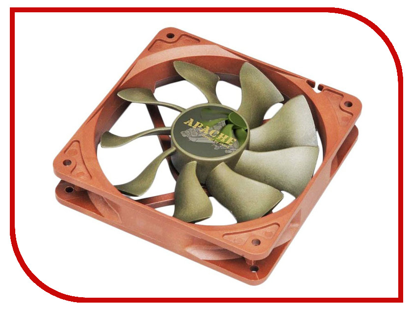 Вентилятор Akasa Apache 120mm AK-FN057 akasa ak fn059 viper 120mm 4 pin pwm 9 blade cooling heatsink fan for computer yellow black