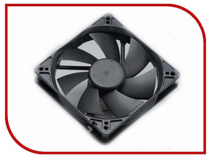 Вентилятор Akasa 120mm Black AK-174BK-B akasa ak fn059 viper 120mm 4 pin pwm 9 blade cooling heatsink fan for computer yellow black