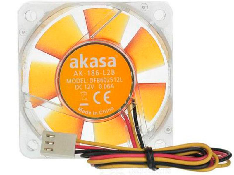 Вентилятор Akasa 60mm Amber AK-186-L2B