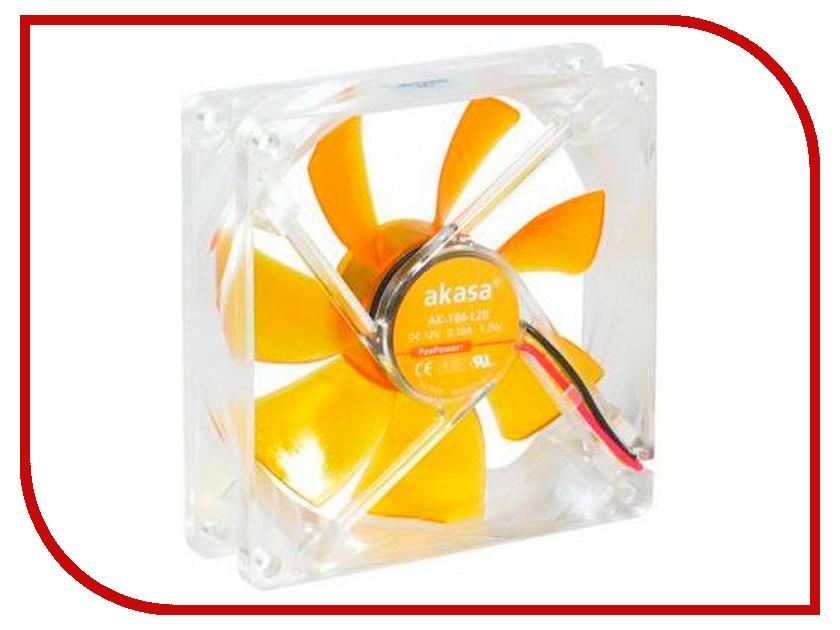 Вентилятор Akasa 90mm Amber AK-184-L2B вентилятор akasa vegas r7 rgb led 120mm ak fn098