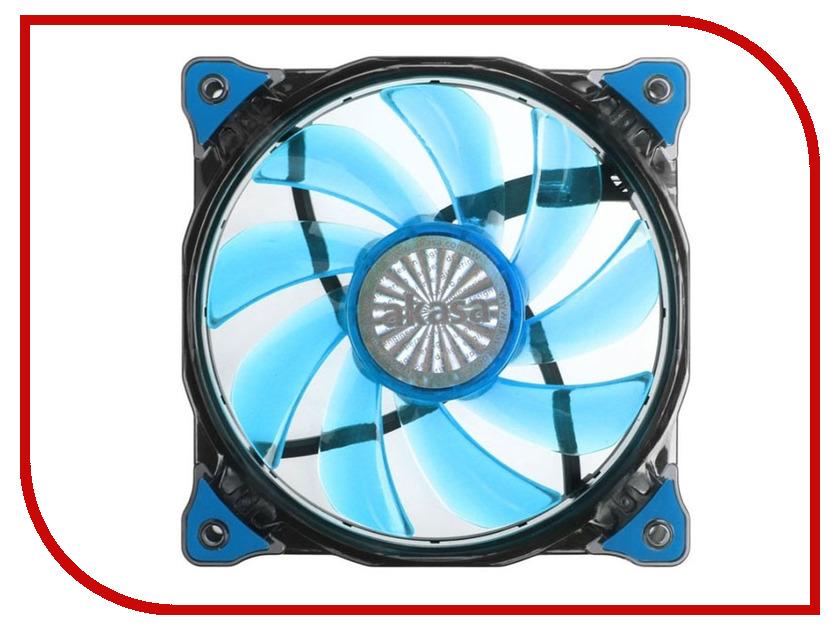 Вентилятор Akasa Vegas 120mm Blue LED AK-FN091-BL вентилятор akasa vegas r7 rgb led 120mm ak fn098